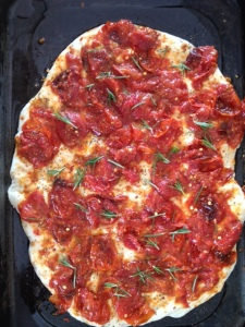 Pizza rosemary